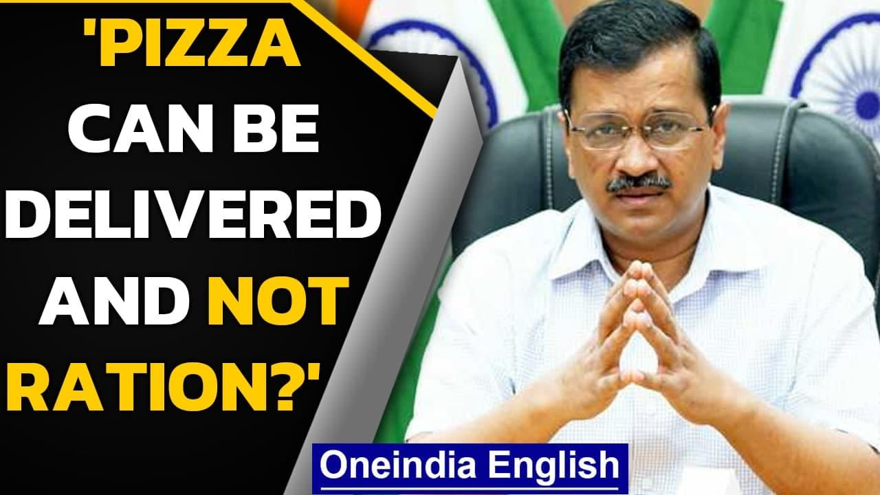 Arvind Kejriwal accuses Centre and 'ration mafia' for blocking ration home delivery | Oneindia News