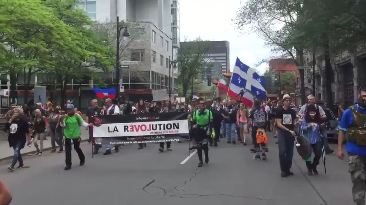 Canadians join anti-COVID-19 restrictions rally in Montreal