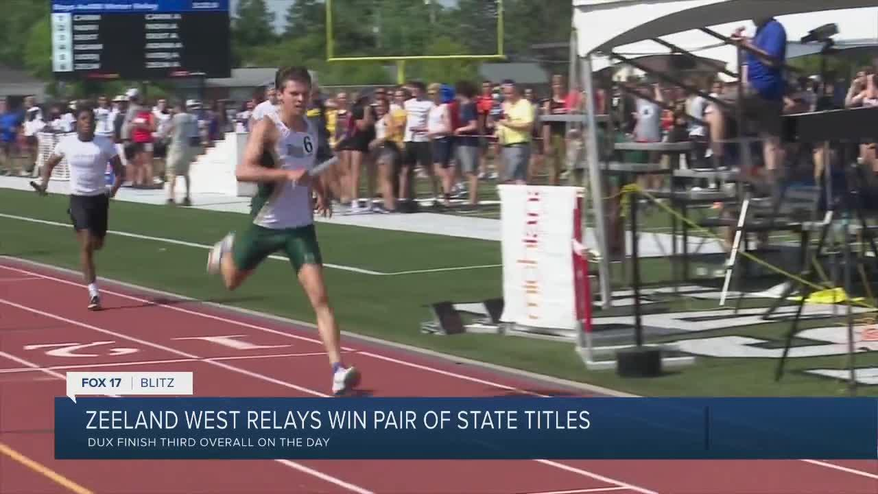 Zeeland West wins pair of statae title relays