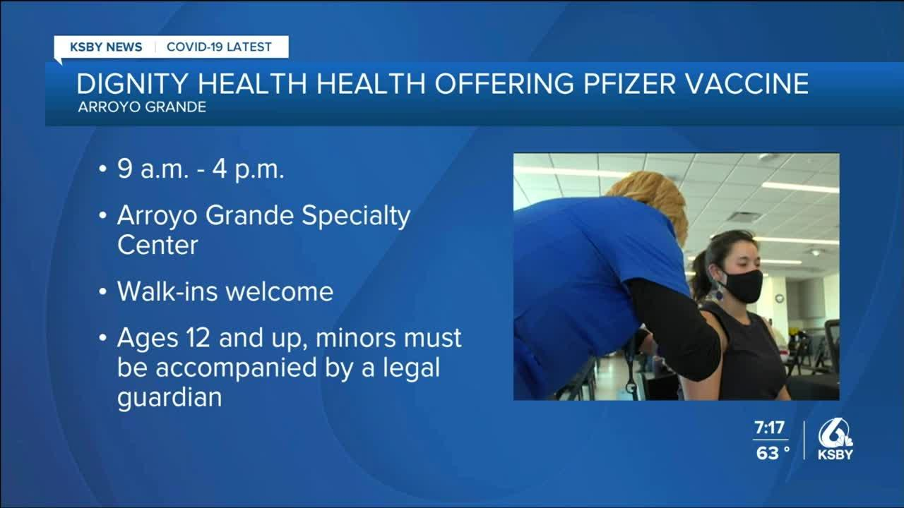 Dignity Health to hold vaccine clinic in Arroyo Grande