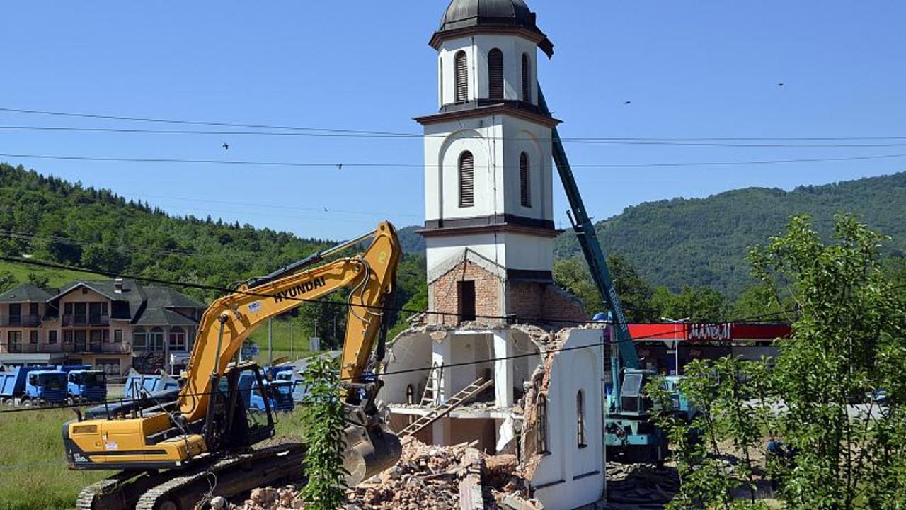 Illegal Bosnia church is torn down after decades-long legal battle
