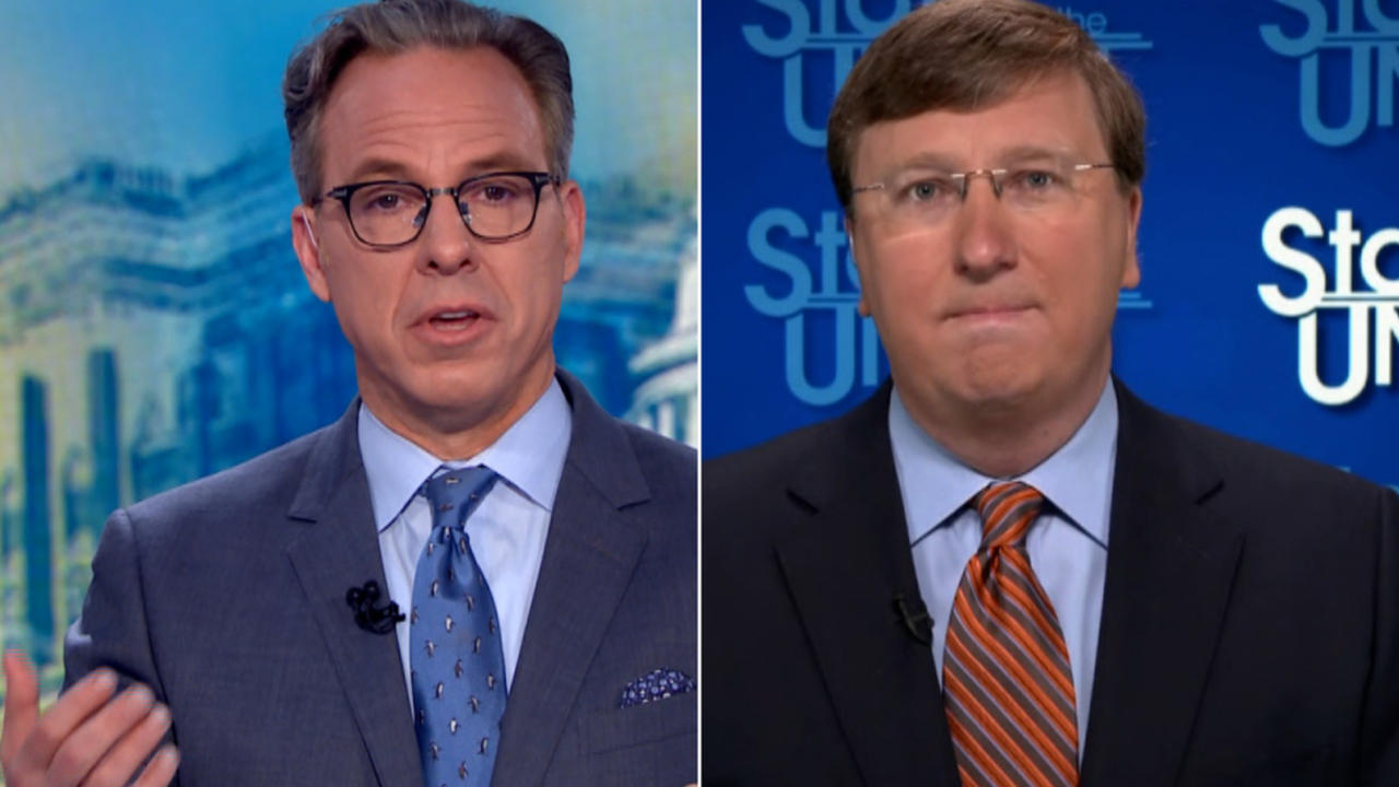 'You're contradicting yourself': Tapper presses governor on vaccinations