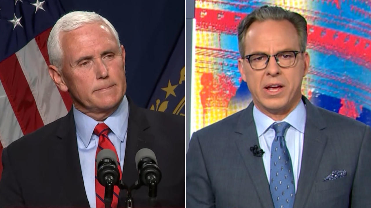 Tapper: Pence agreed to disagree with Trump on threat to his own life