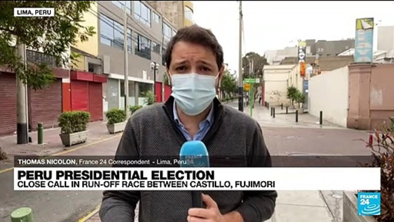 Fujimori leads in tight Peru presidential vote
