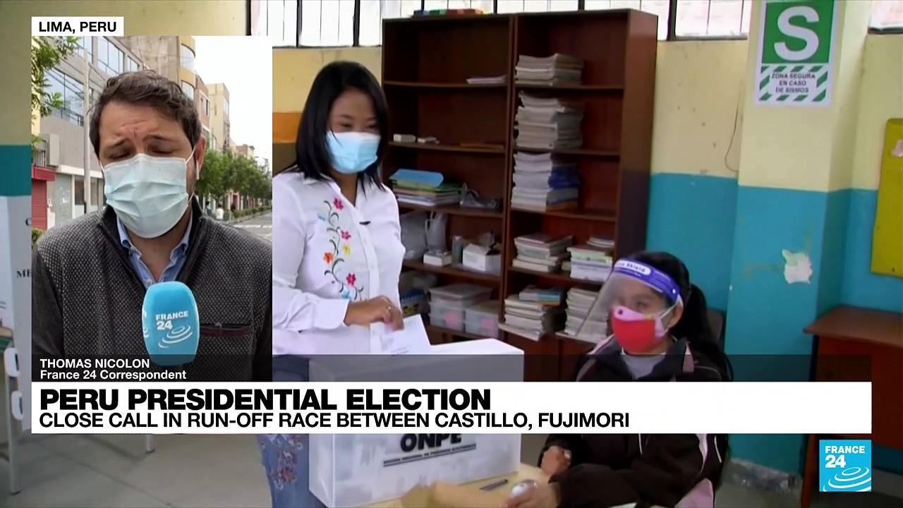 Peru presidential election: Castillo closes in on Fujimori in knife-edge runoff