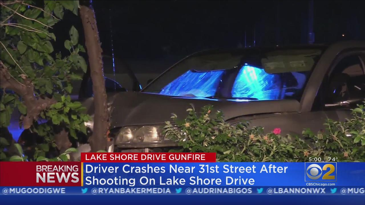 Shots Fired On Lake Shore Drive Leads To Crash At 31st Street