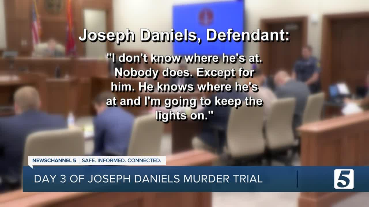 Day 3 of Joseph Daniels Trial: Jury hears part of interview of Daniels with investigators