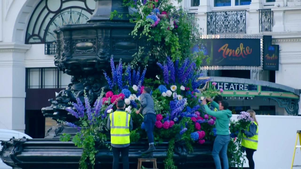 New York's 'flower flashes' hit the streets of London