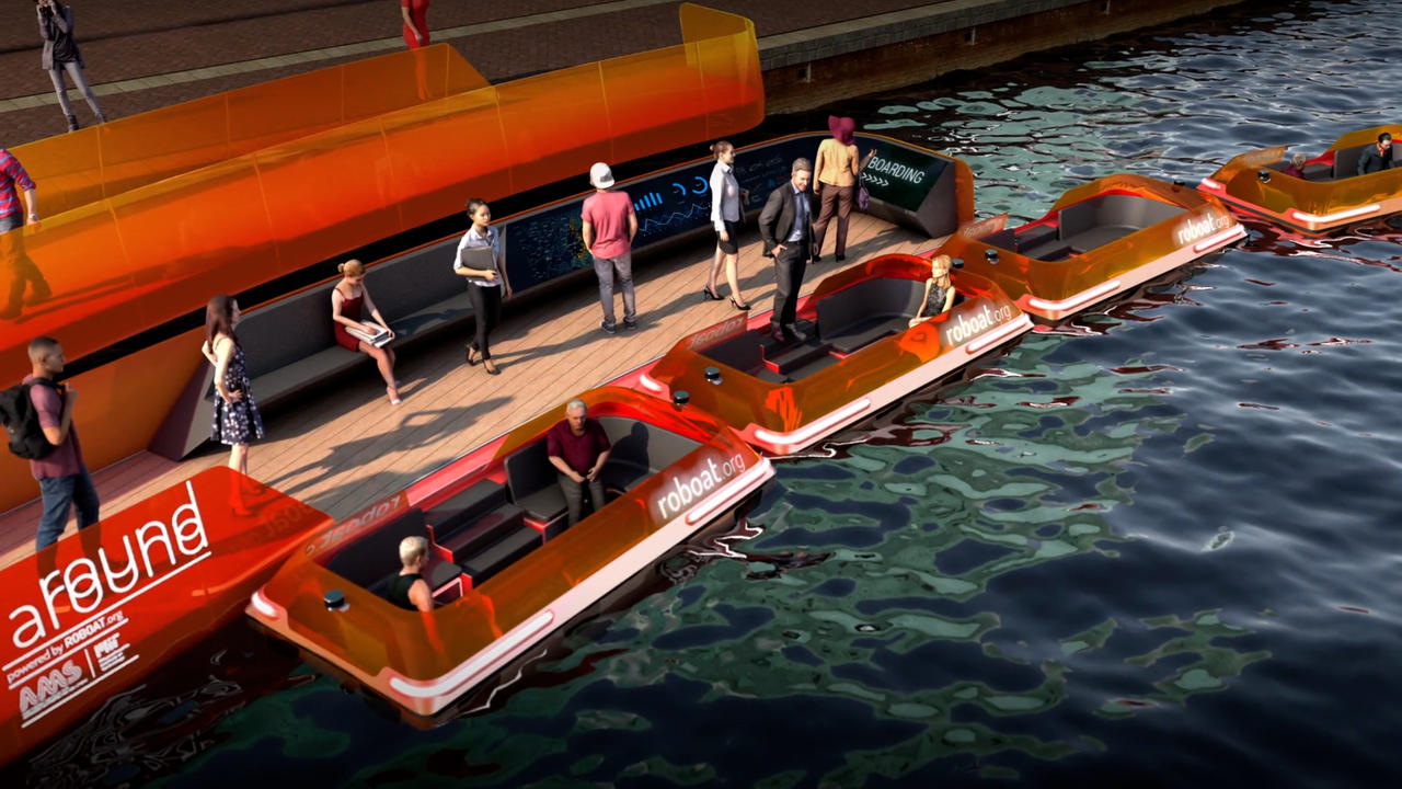 Self-Driving Electric 'Roboats' Begin Trials On Amsterdam Canals
