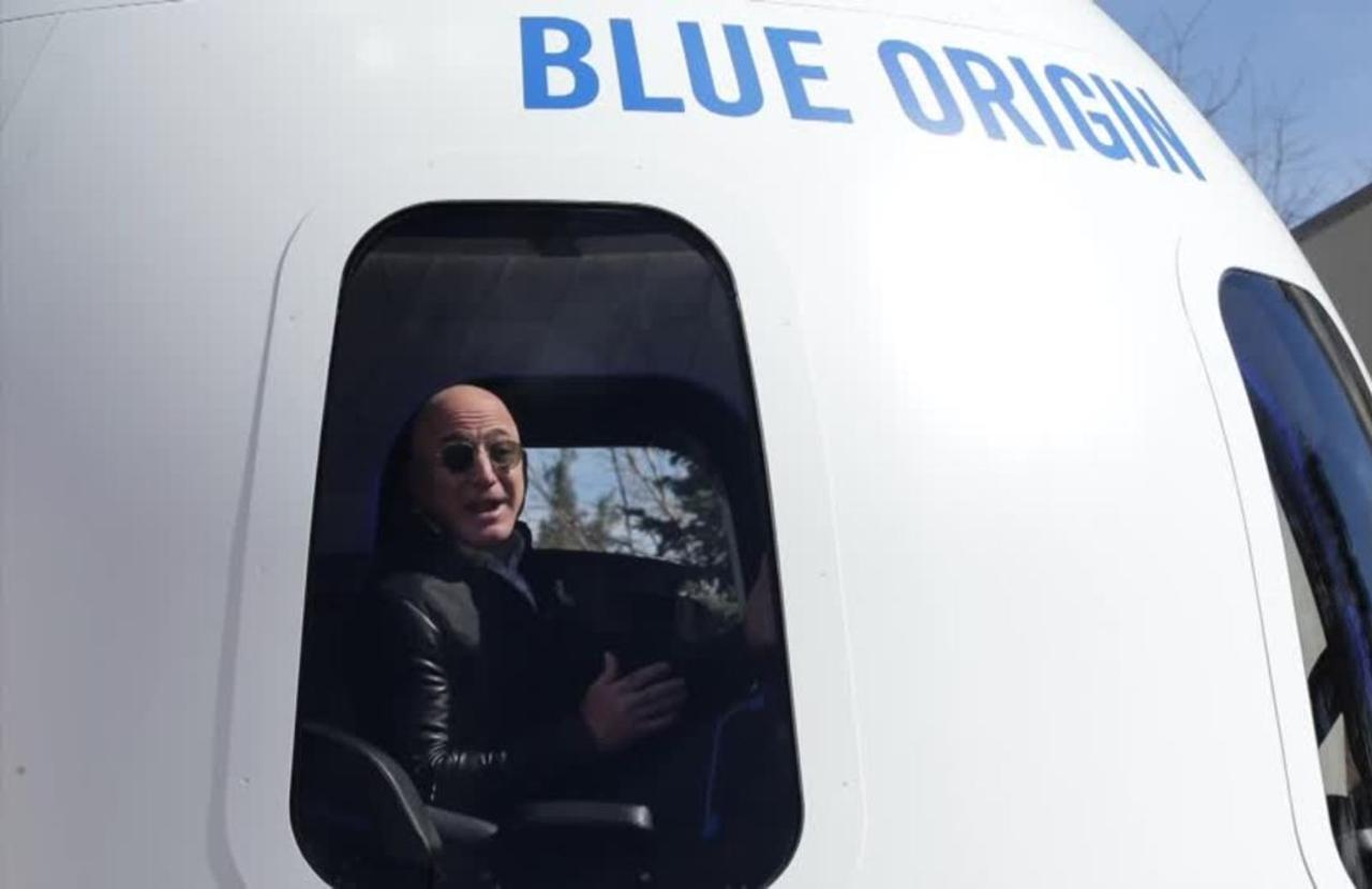 Amazon's Bezos announces plan to take space trip