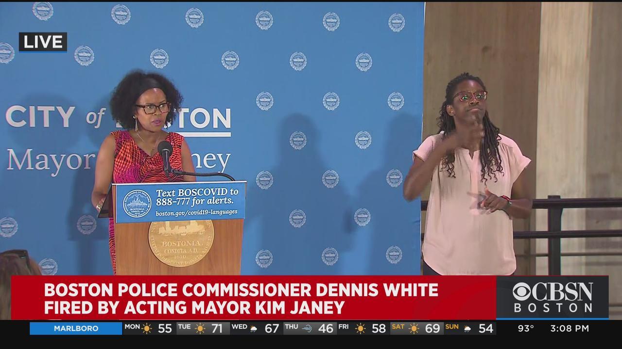 Acting Boston Mayor Kim Janey Announces She Has Fired Boston Police Commissioner Dennis White