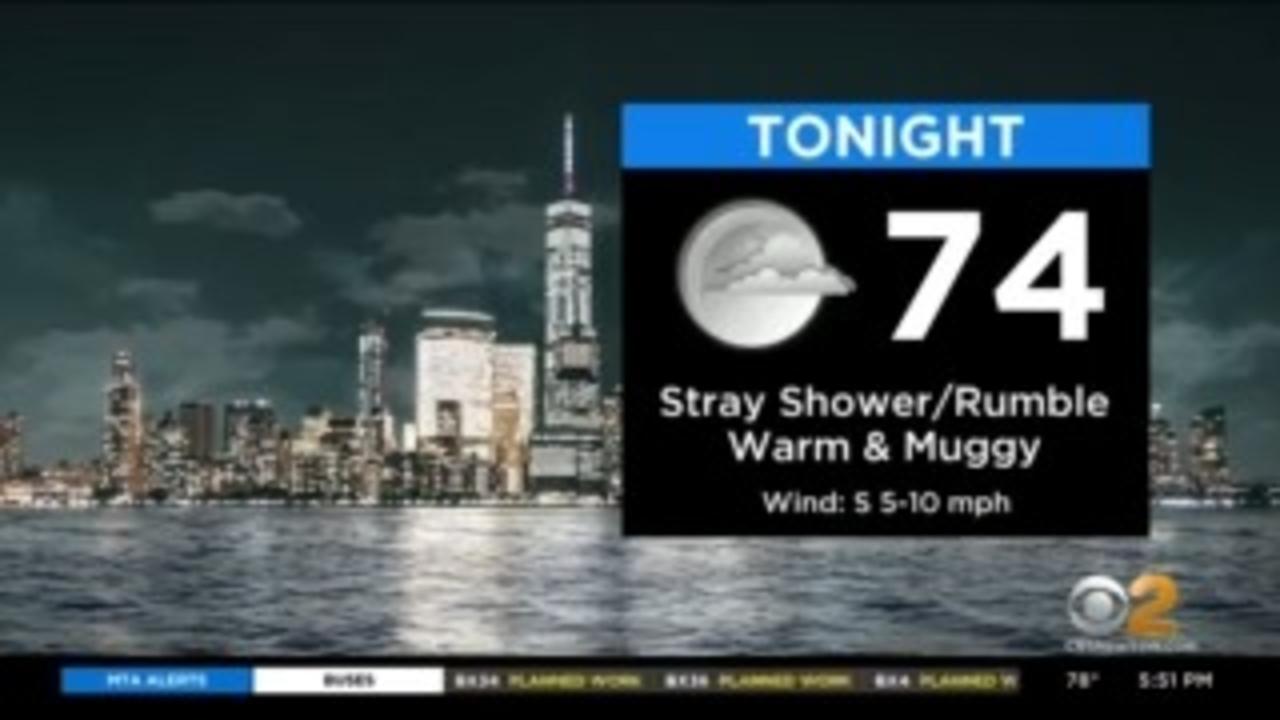 New York Weather: CBS2's 6/7 Monday Evening Update