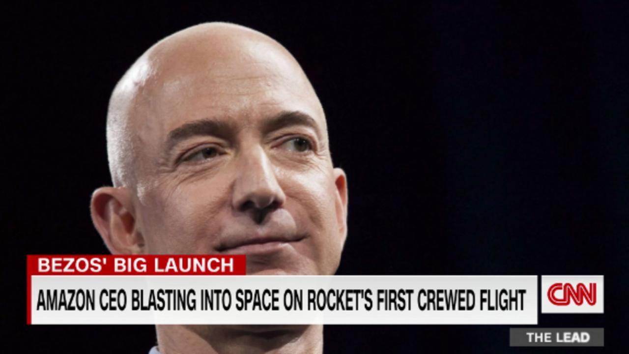 Amazon CEO Jeff Bezos blasting into space on rocket's first crewed flight