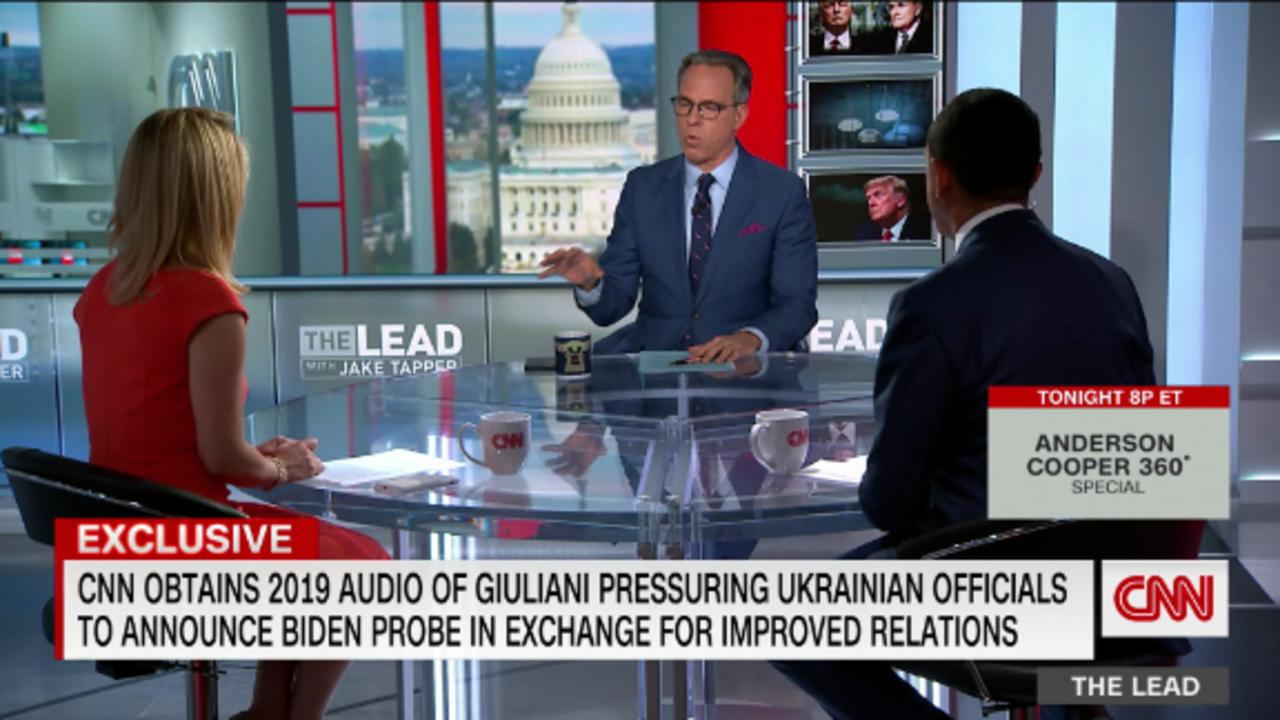 CNN obtains 2019 audio of Giuliani pressuring Ukrainian officials to announce Biden probe in exchange for improved relations