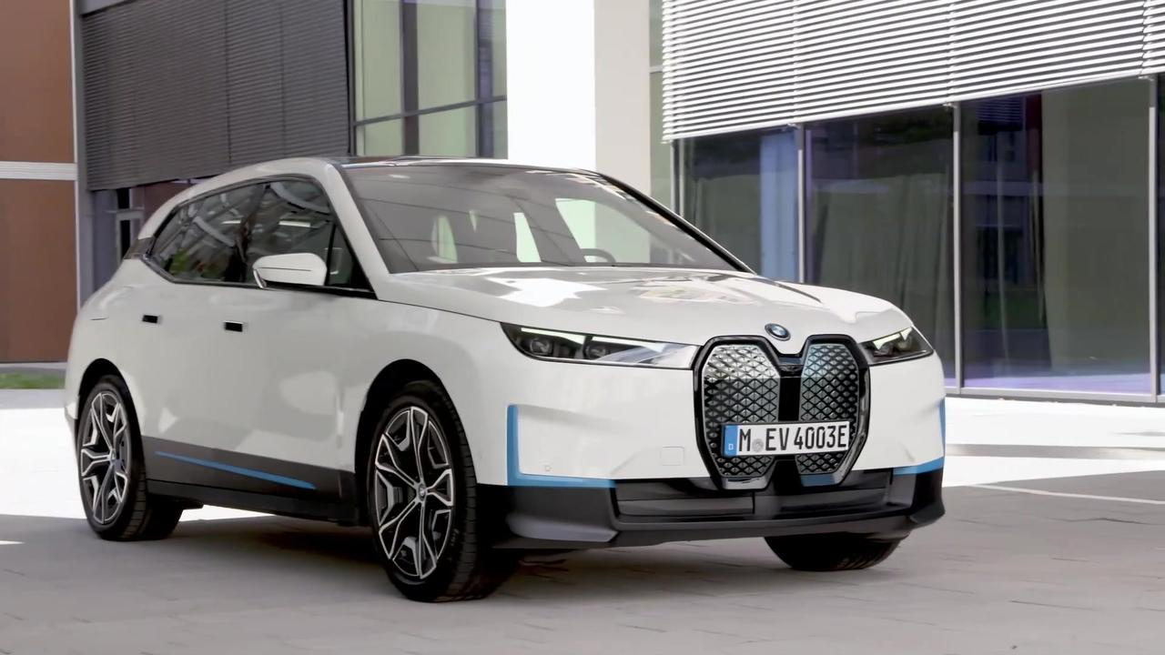 The first-ever BMW iX - Exterior Design in White