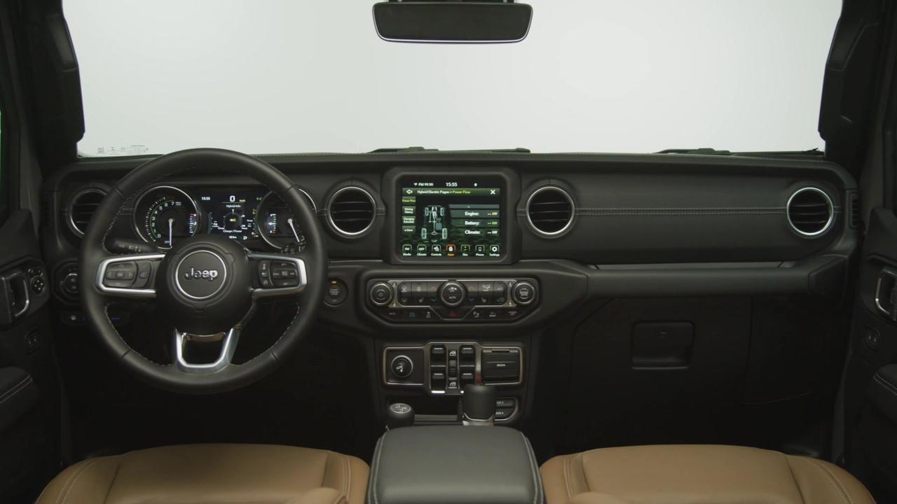 Jeep® Wrangler 4xe Sahara Interior Design