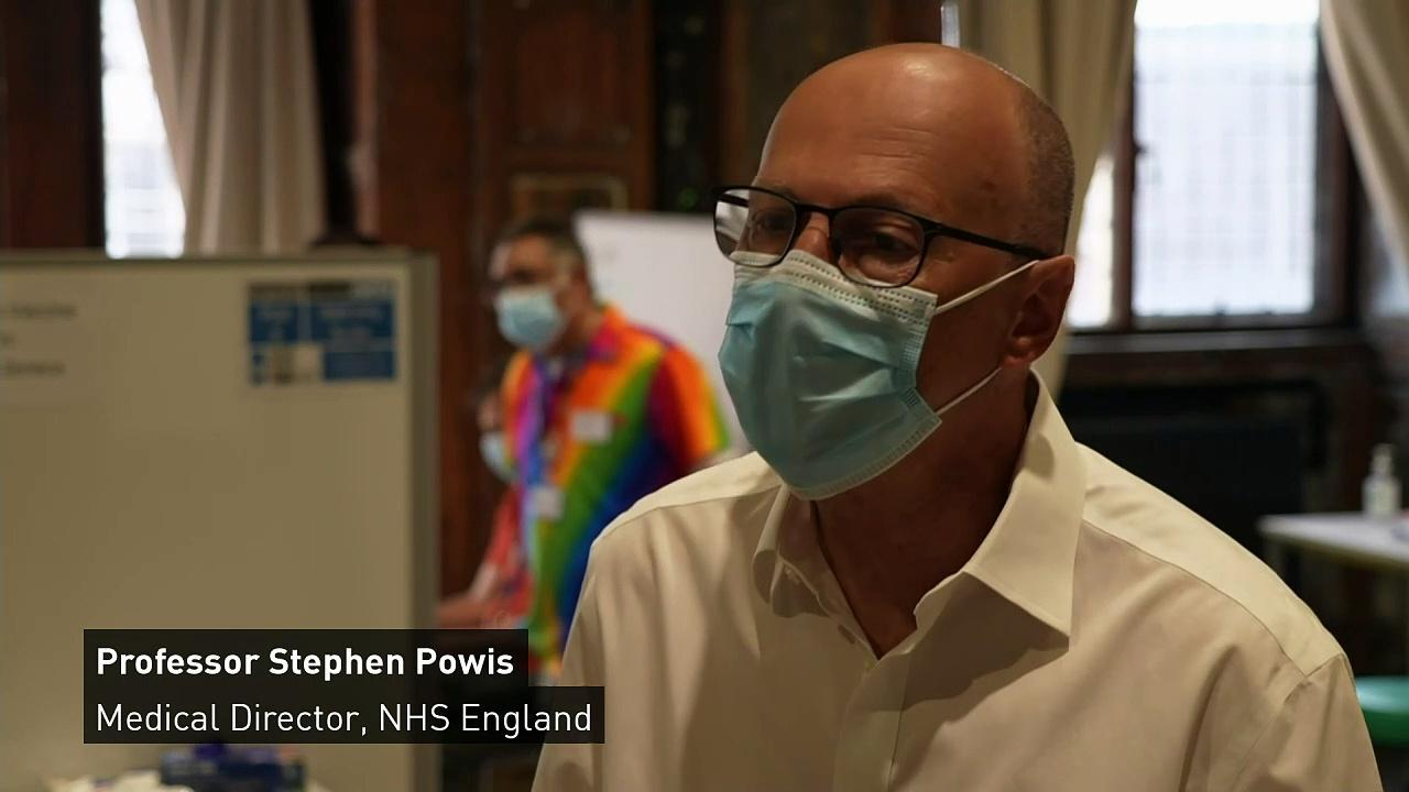 Powis urges vaccine uptake as UK on track to hit target