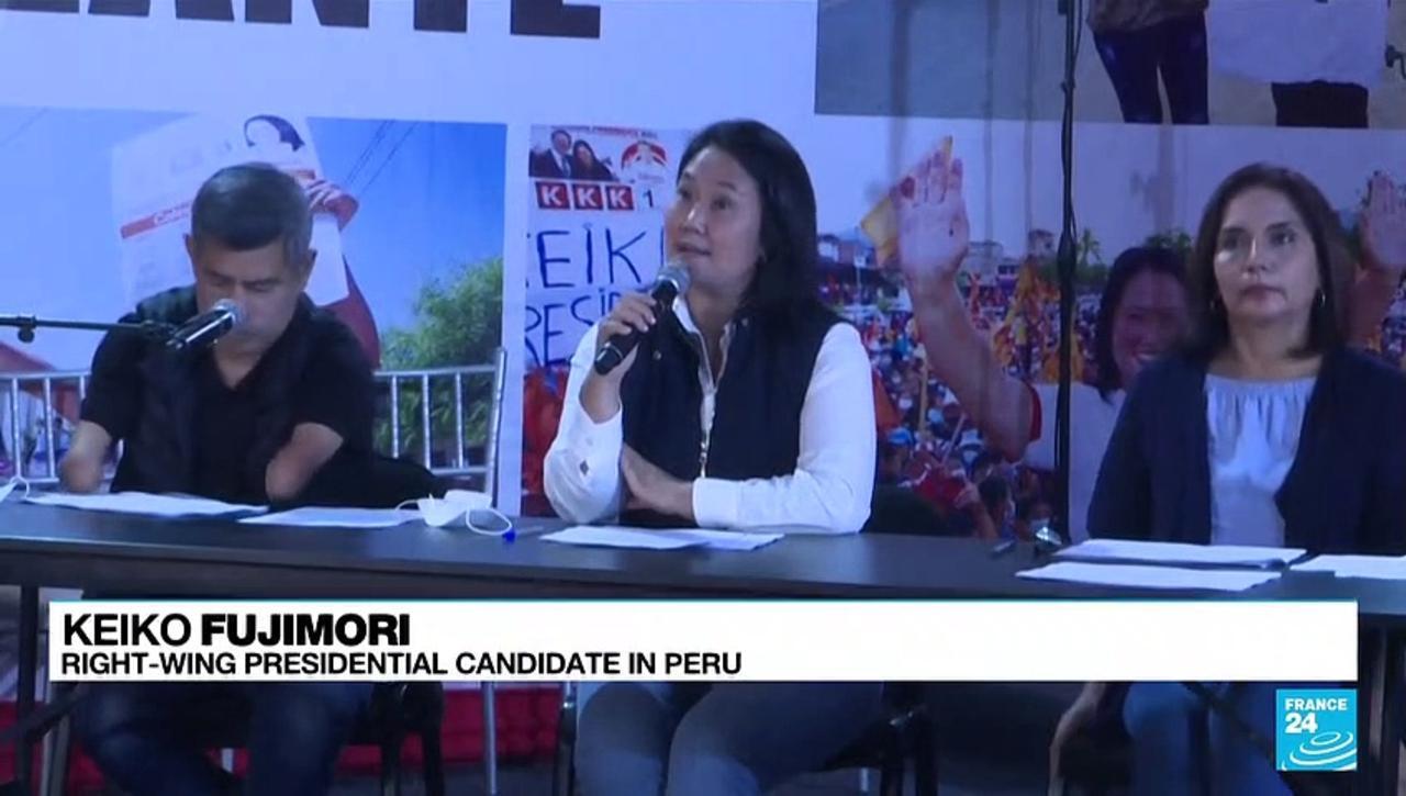Keiko Fujimori alleges fraud in tight Peru election