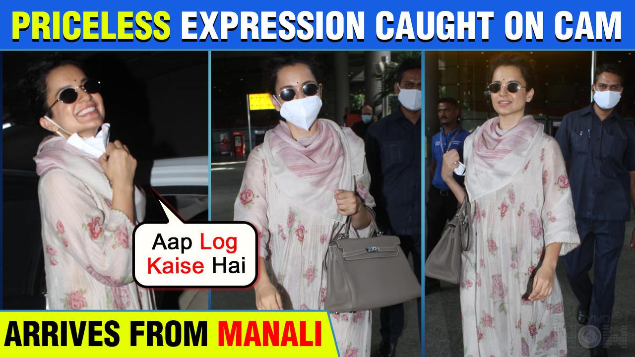 Kangana Ranaut Super Happy As She Retuns From Manali To Mumbai