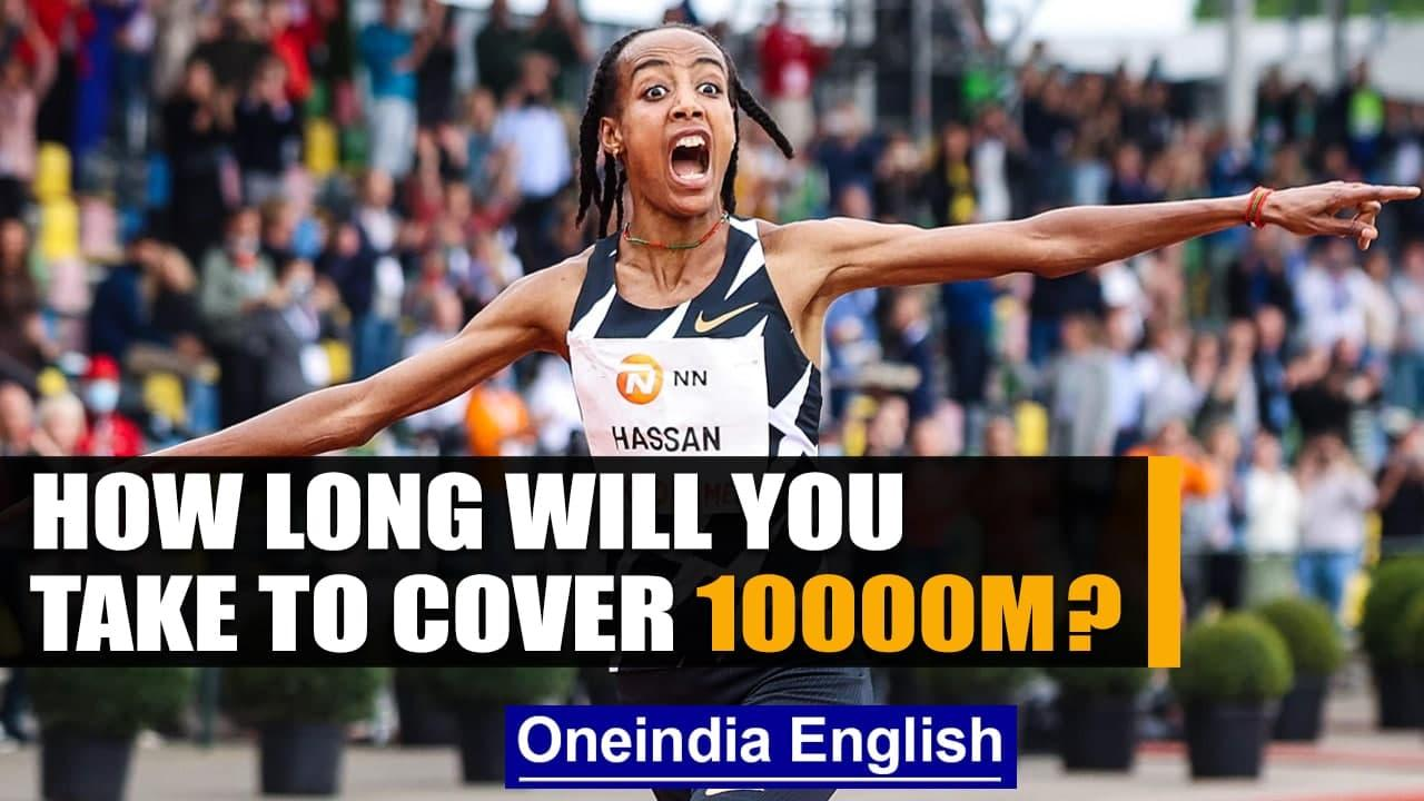 Sifan Hassan breaks women's 10,000m world record; marks record before Tokyo Olympics   Oneindia News