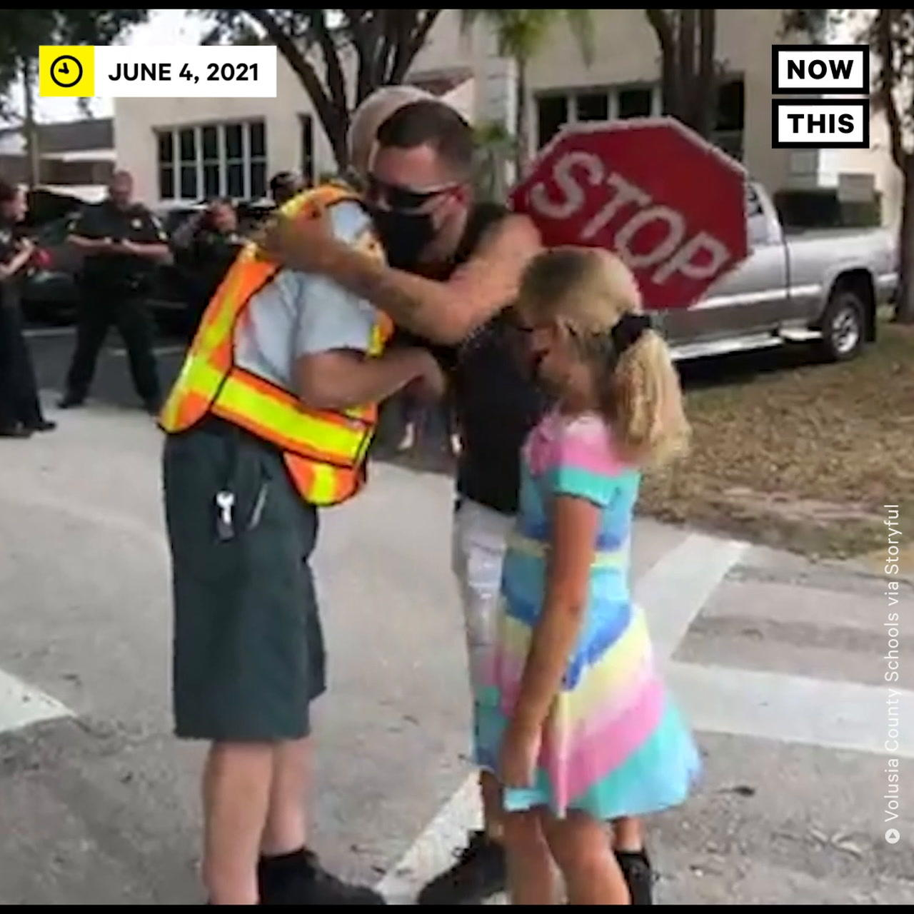Elementary School Community Honors 92-Year-Old Crossing Guard