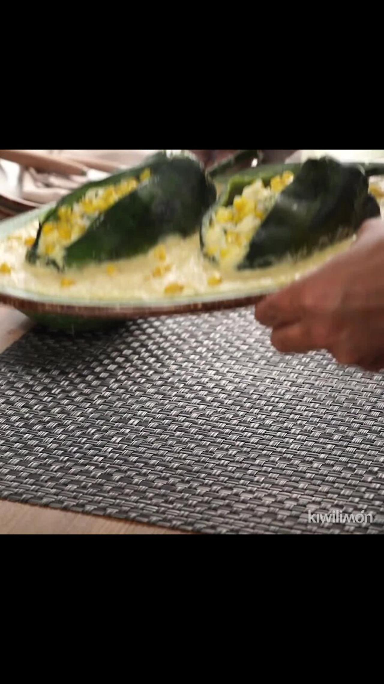 Chile Stuffed with Cheese with Corn