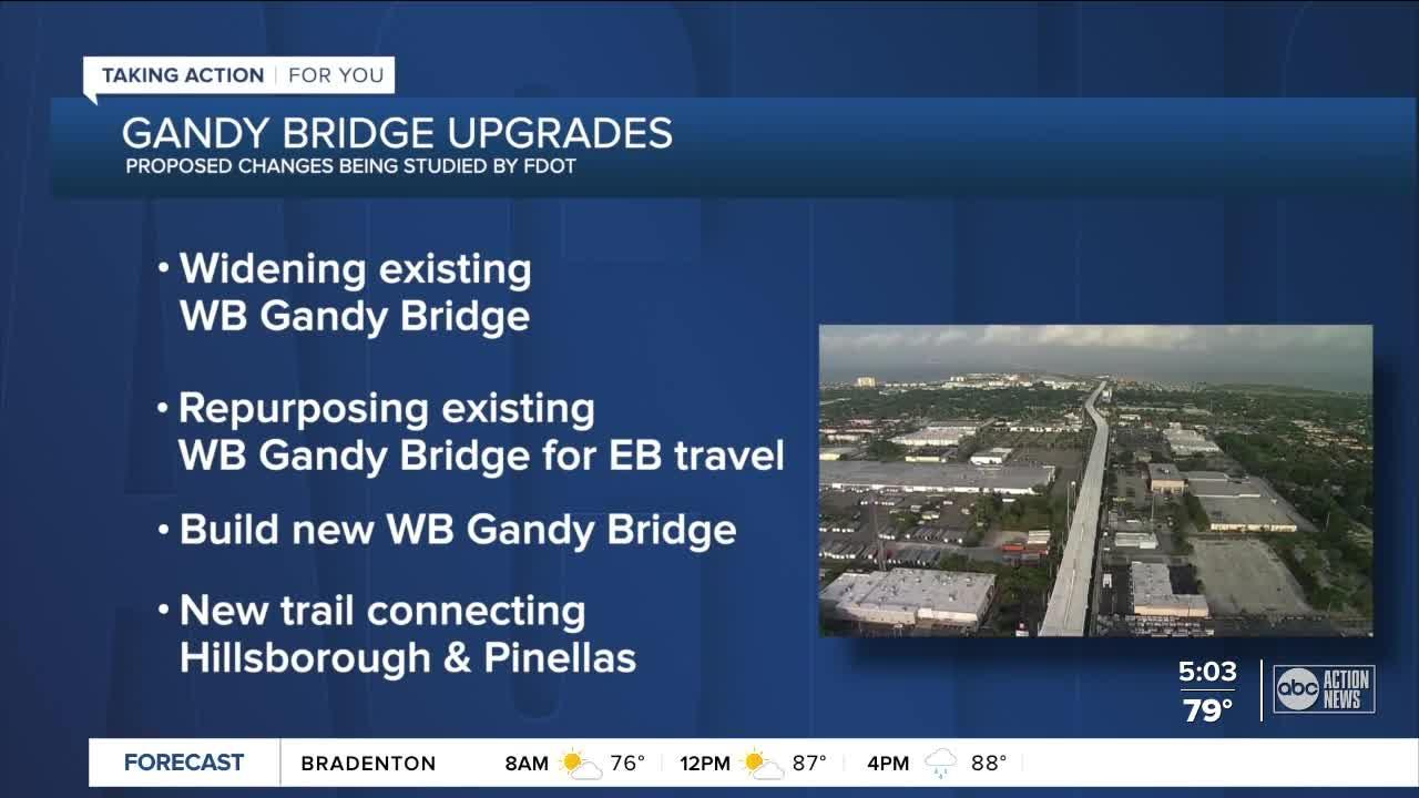 FDOT studying impact of widening Gandy Bridge to ease congestion and prevent crashes