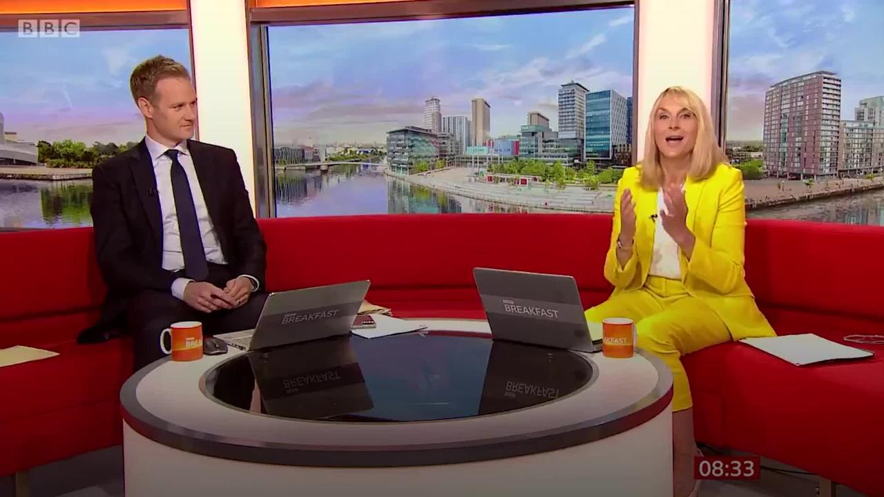 Stephen Graham pays tribute to departing Louise Minchin on BBC Breakfast