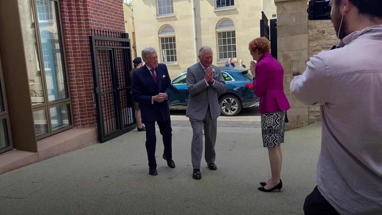 Charles hails Lili's birth as 'happy news' as he visits Mini plant