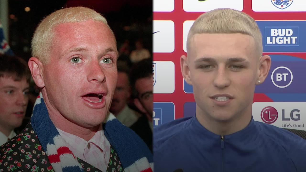 Phil Foden sports new dyed blond hairstyle amid comparisons to Paul Gascgoine