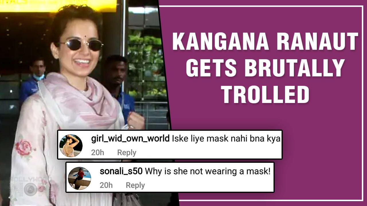 Netizens Yet Again Slams Kangana Ranaut For Not Wearing Mask