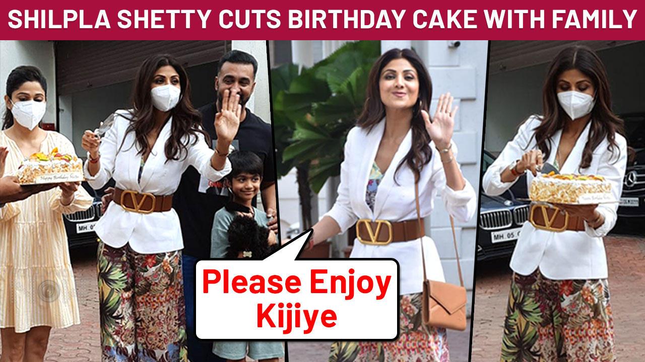Shilpa Shetty's Birthday Celebrations With Raj Kundra | Cake Cutting Video