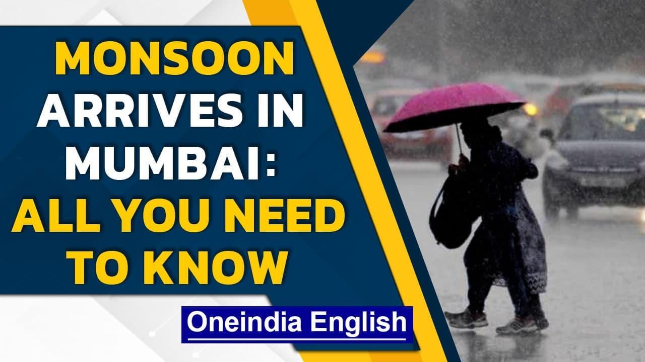 Monsoon arrives in Mumbai: IMD predicts heavy rainfall, waterlogging reported  Oneindia News