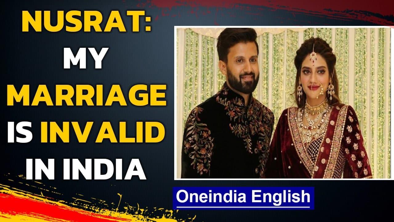 Nusrat Jahan breaks silence over separation with husband Nikhil Jain| TMC MP marriage| Oneindia News