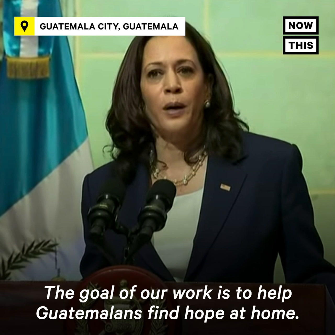 VP Harris Tells Guatemalans Not to Come to the U.S.