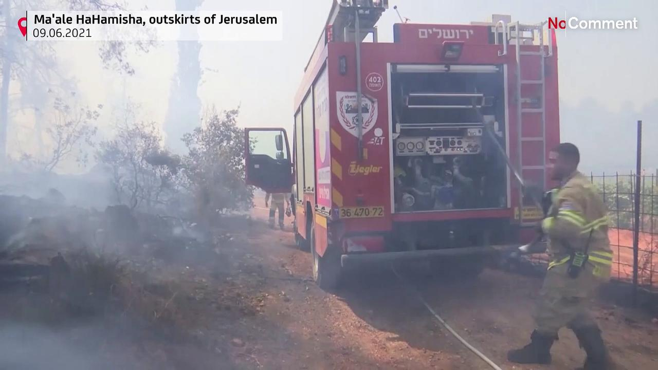 Wildfire forces evacuations near Jerusalem