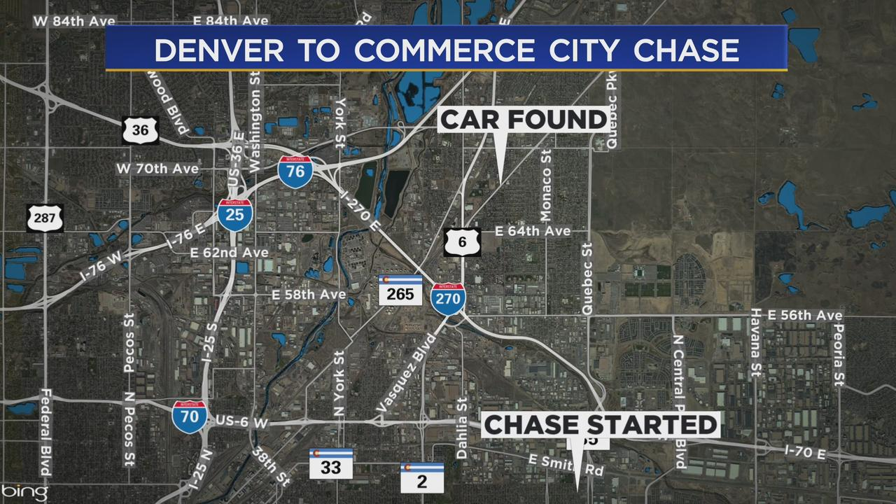 Driver Damages Denver Police Cruiser During Chase