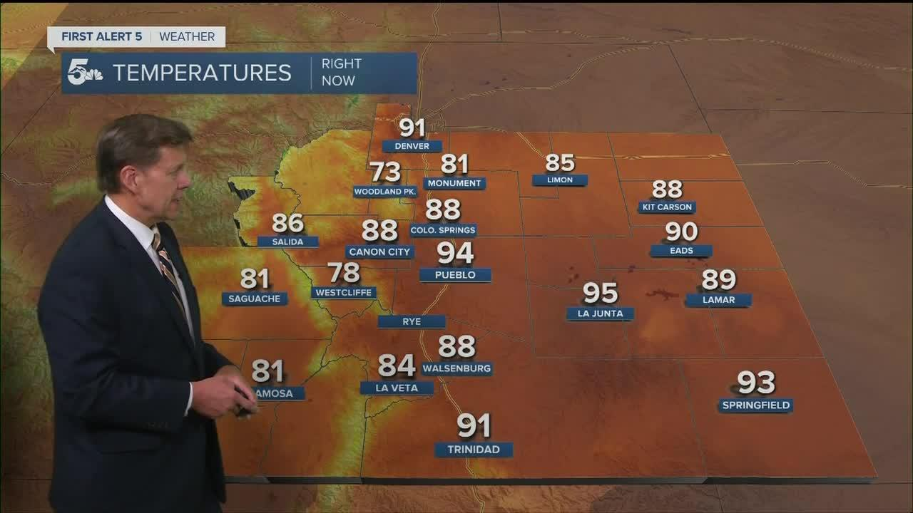Well above normal temps on Wednesday