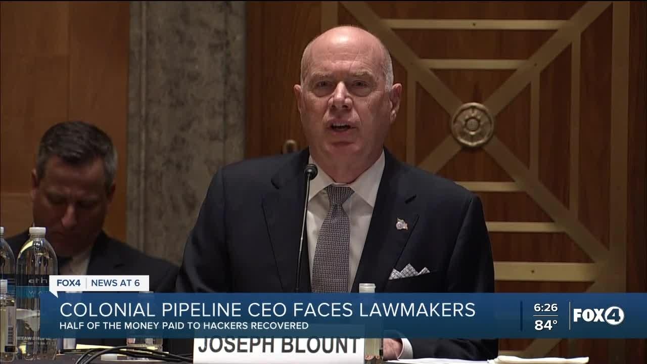 Colonial Pipeline CEO: Ransom payment among my 'toughest decisions'