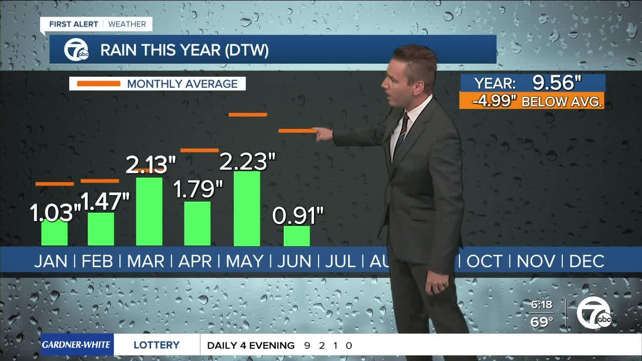 Metro Detroit experiencing moderate drought with average rainfall down about 5' this year