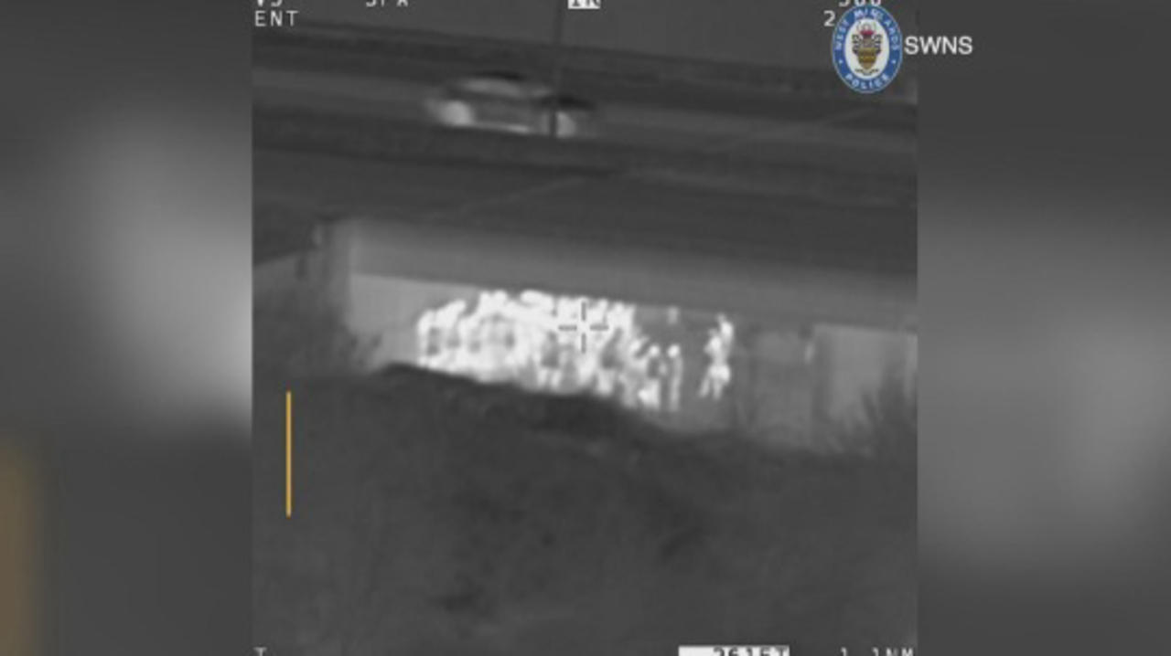 Huge Illegal Rave Under a Highway Busted By UK Police