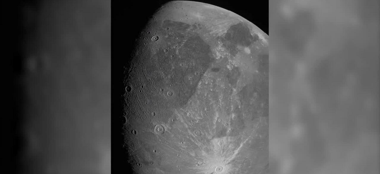 NASA releases pictures of Jupiter's largest moon