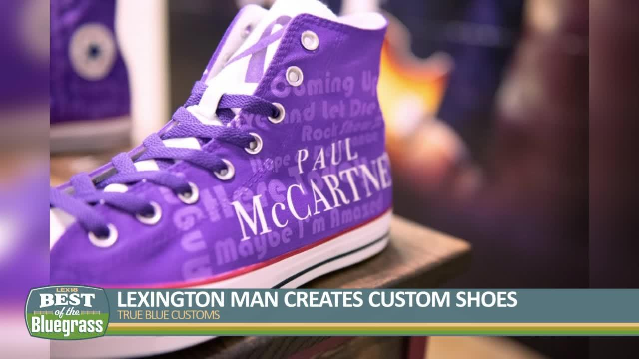 True Blue Customs: Lexington man creates custom shoes for stars