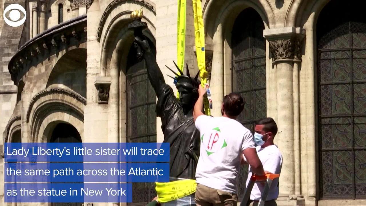 WEB EXTRA: Mini Lady Liberty Statue Headed To The U.S.