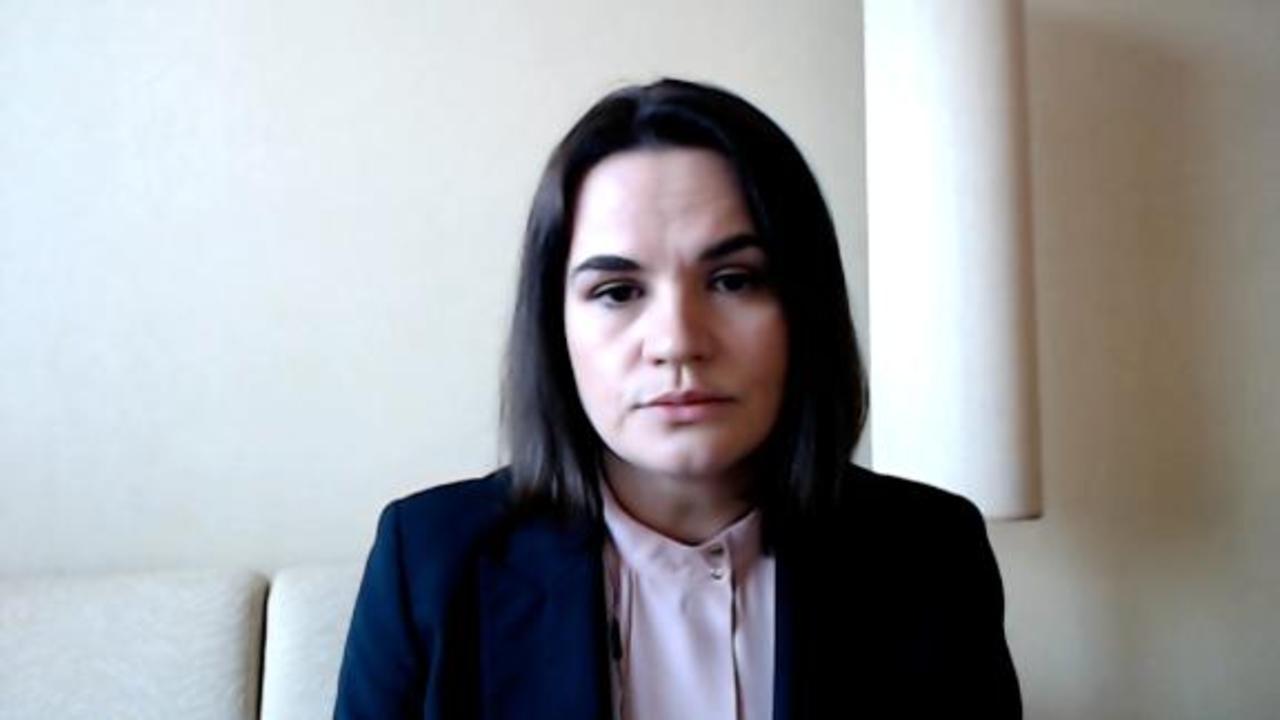 Tikhanovskaya: 'Sanctions will stop violence' in Belarus