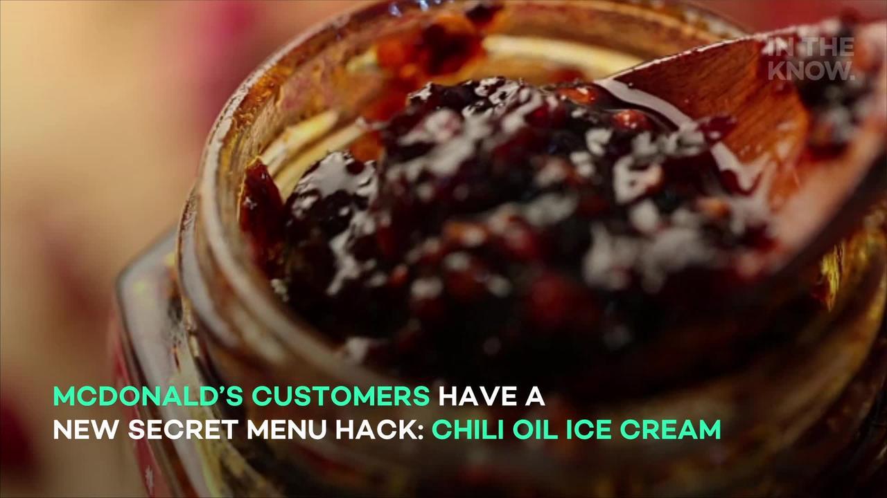 TikTok's newest fast-food hack is... putting chili oil on ice cream?