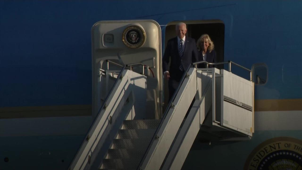 Biden touches down in UK ahead of talks with Johnson and G7 summit