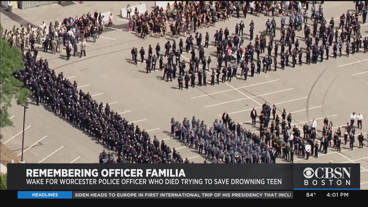 First Responders, Worcester Community Turn Out To Remember Officer Manny Familia