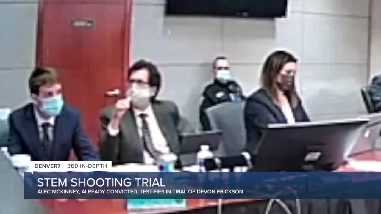 Alec McKinney testifies at Devon Erickson's STEM School shooting trial