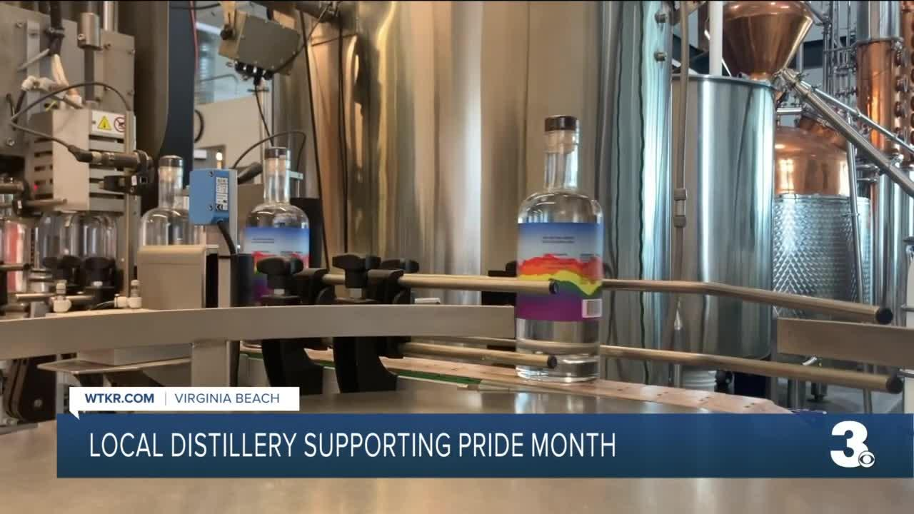 Local distillery honors, supports Pride Month with specially-labeled bottles and open event
